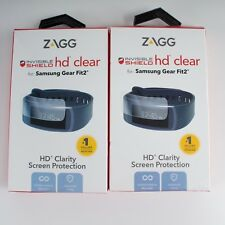 2 Pack - ZAGG InvisibleShield HD Clear Screen Protector for Samsung Gear Fit2