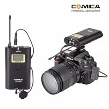 COMICA Wireless Lavalier Microphone for Canon Nikon DSLR Camera Camcorder Phone