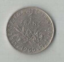 FRANKREICH 1 FRANC Münze / 1960 / kleinere 0 kleinere Null