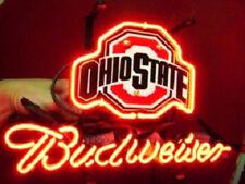 "New Ohio State Budweiser Neon Light Sign 17""x14"""
