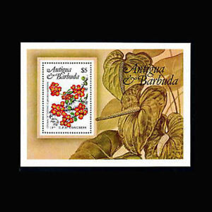 Antigua, Sc #759, MNH, 1984, S/S, Flowers, Flora, Plants, RID-A
