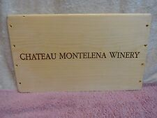MONTELENA  ESTATE  WINERY NAPA  WOOD WINE PANEL