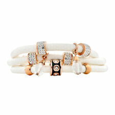 Cubic Zirconia Stainless Steel Leather Fashion Bracelets