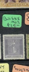 VIRGIN ISLANDS  (P0209B)  6D  SG 38   MOG