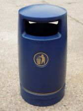 Azul hefton troyano de gran capacidad para aire libre camada bin C/W Cenicero Top-Nuevo