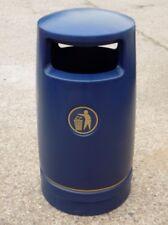 BLUE Hefton Trojan Large Capacity Plastic Outdoor Litter Bin - Brand New