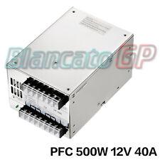 Alimentatore 500W 12V  PFC Attivo SP-500-12 Trasformatore Stabilizzato Switching