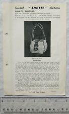 Vintage leaflet: Swedish Arkits Basketry - handbag, 73