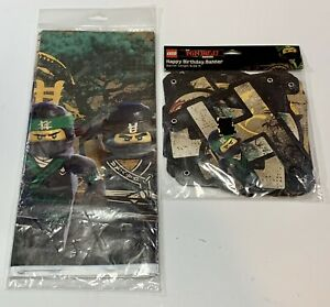 New! LEGO NINJAGO MOVIE TABLE COVER PARTY SUPPLIES/HAPPY BIRTHDAY 6.59ft BANNER