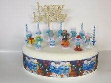 Cake Topper Figure Decorating Birthday - SMURFS - Cake Decoration Set.