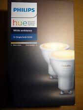 Philips Hue WHITE AMBIANCE gu10 DEL Spot 2-er Set NEUF