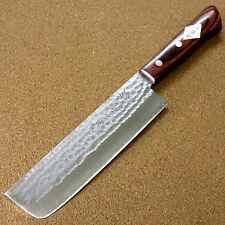 Japanese Kitchen Nakiri Vegetable Knife 165mm 6.5 inch 3 Layers Hammered JAPAN