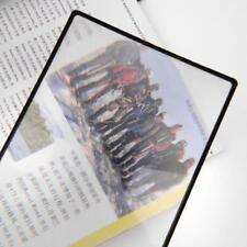A5 Flat PVC Magnifier Sheet X3 Book Page Magnifying Reading Glass Material T0M1