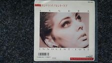 "Sandra Cretu-Innocent Love/HI HI HI 7"" SINGLE JAPAN promo"