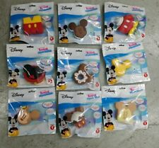 Disney Kawaii Squeezies Series 1 Mickey Mouse Complete Set of 9 Squishy Toys New