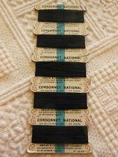 collection mercerie ancienne carte CORDONNET NATIONNAL FIL noir pour machine T3
