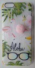 Flamingo pom pom Iphone 6 soft silicone phone case