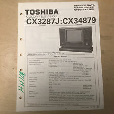 Toshiba Basic Service Manual for the CX3287J CX34879 TV ~ Repair mp