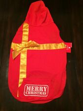 XS Merry Christmas Dog/Puppy/Cat Hoodie T-shirt Present w/ Bow,--NWT--US SELLER