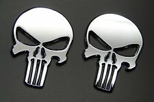 3D PUNISHER METAL EMBLEM STICKER.  THE PUNISHER EMBLEM STICKER DECAL (SET 0F 2)