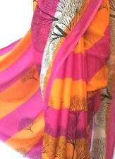 edel Sari Chiffon indisch 580cm INDIEN SAREE BOLLYWOOD STOFF KLEID DEKO 07