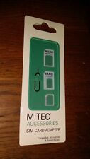 MiTEC ACCESSORIES - Sim Card Adapter Compatible All Mobiles - FREE P&P