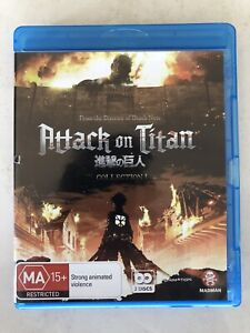 Attack On Titan : Collection 1 (Blu-ray, 2014, 2-Disc Set)