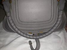 100% Authentic Chloe Women's Marcie Bag Cashmere Grey Medium Leather