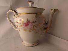 ancienne cafetiere porcelaine de paris 19e fleur peinte style empire