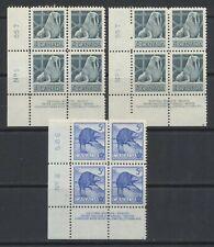 1954 Canada #335 Walrus 4c (2 Blocks #1) & #336 Beaver 5c PB #2 MNH