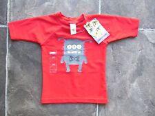 BNWT Baby Boy's Cotton On Red & Grey Monster Rashie/Rash Vest/Shirt/Top Size 00