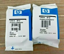 New Genuine 2 PK inkjet for HP 21 / 22 Black and Tri-color ink cartridge C9509BN