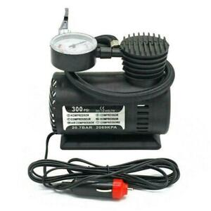 Car Electric Air Pump 300PSI Air Compressor Portable Inflator Tire Bike H0D4