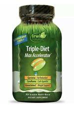 Irwin Naturals,Triple-Diet, Max Accelerator, 72 Soft-Gels, Stimulant Free <><