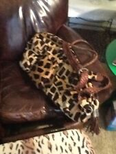 Traci Hair-on-hide Tennis Bag Quality! Pockets, lined inside! Brand New!