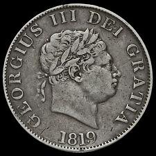 1819 George III Milled Silver Half Crown, GF / AVF