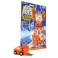 """Vintage TONKA GOBOTS """"SPOONS"""" #31 Enemy Robot FORKLIFT with ORIGINAL CARD-BACK!"""
