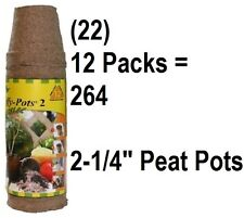 "(22) Jiffy Jp212 6 Pack 2-1/4"" Sphagnum Peat Pot Starter Pots (264 Peat Pots)"