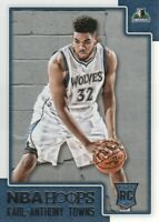 2015-16 NBA Hoops Basketball #289 Karl-Anthony Towns RC Minnesota Timberwolves