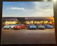 2018 VOLKSWAGEN VW GOLF FAMILY BROCHURE 42 pages GTi R SPORTWAGEN ALLTRACK