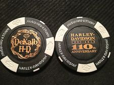 "Harley Davidson Poker Chip (110 ANNIVERSARY) ""DeKalb"" Illinois CLOSED"