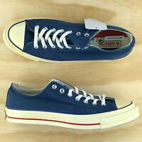 Converse Chuck Taylor All Star 70 Low Top Vintage Blue Red White 159569C Size 12