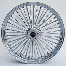 """Chrome 48 King Spoke 21"""" x 2.15"""" Front Dual Disc Wheel for Harley/Custom Models"""