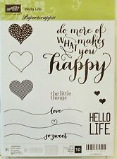 Stampin Up HELLO LIFE photopolymere stamp Set NEW Hearts Happy Love so sweet