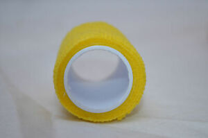2 x Yellow Self Adhesive Bandage 5cm x 4.5m Finger Sports Breathable Tape