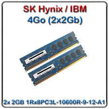SK HYNIX / IBM 4Go (2X2GB) 1333MHZ PC3-10600 240-PIN SIMPLE RANK X8 CL9 49Y1423