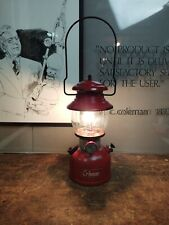 Coleman 1960 Lantern Red 200A with Pyrex Globe Camping Dated 1/60 Tested Works