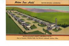Baton Rouge LA Motor Inn Hotel Vintage Postcard UNUSED Excellent