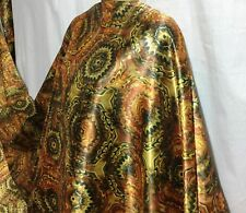 *NEW* L/Weight Smooth Liquid Satin Damask African Print Fabric