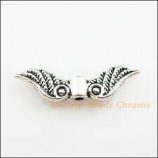 15 New Charms Tibetan Silver Tone Angel Wings Spacer Beads 7x23mm